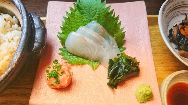 赤羽のランチで食べられる真鯛の刺身