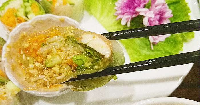 タイ料理赤羽PAPAYAのフレッシュ春巻き