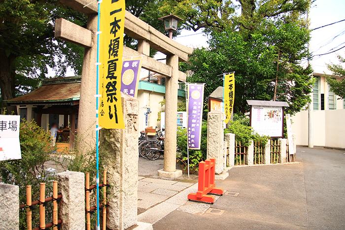 西ヶ原の七社神社の二本榎夏祭り