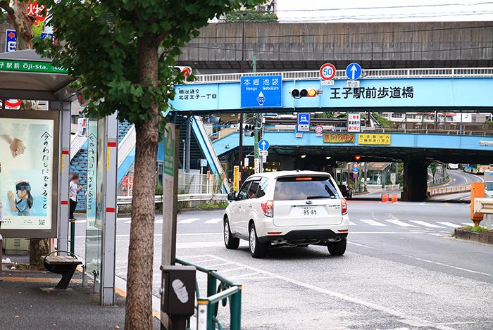 王子駅から池袋駅へのバス乗り場