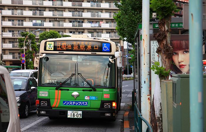 池袋東口行きのバス