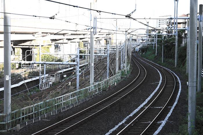北区の入り組んだ線路