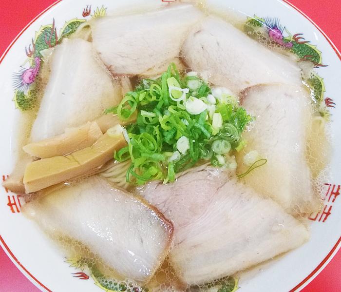 尾久駅の中華そば竹千代のチューシュー麺