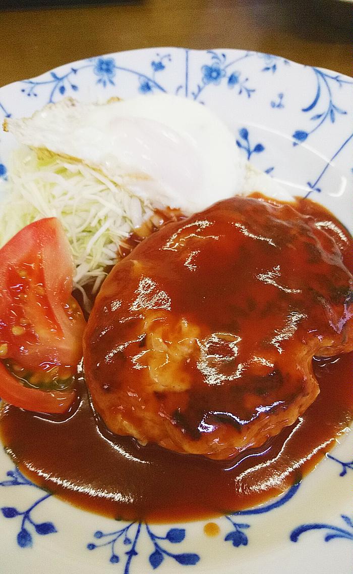 赤羽竹山食堂のハンバーグ定食帝国ホテル風(ランチ)