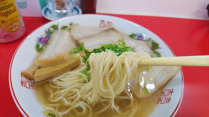 尾久駅の中華そば竹千代のチャーシュー麺