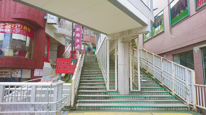 東十条駅の階段