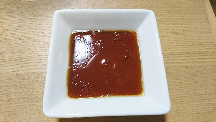 東十条の餃子の店の栄泉食品の餃子のタレ