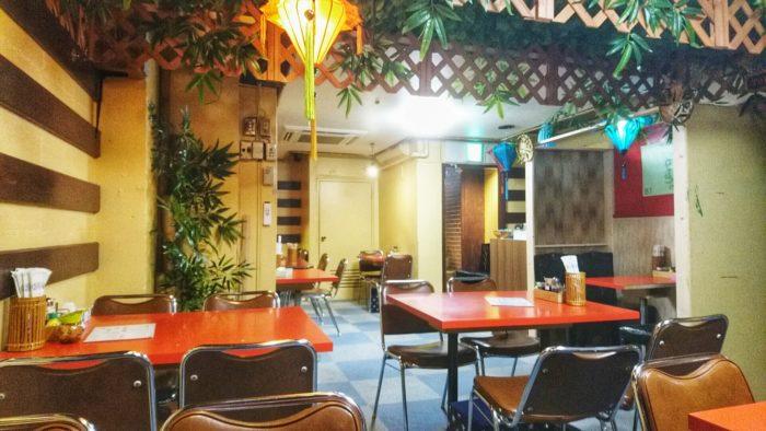 赤羽ベトナムレストランBamBooさんの店内