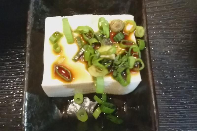 赤羽の濱之家のランチの豆腐