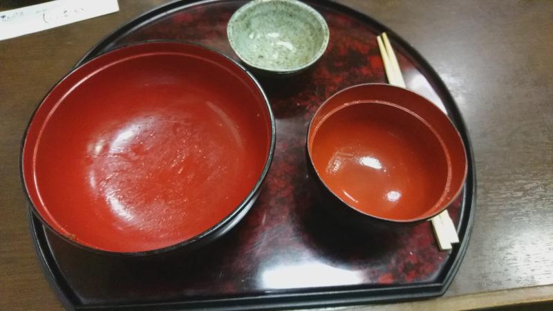 完食した赤羽の天ぷら屋にしおかのえびかき揚げ丼