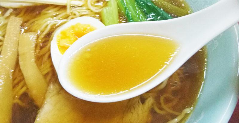 十条の玉屋の仙人ラーメンのスープ