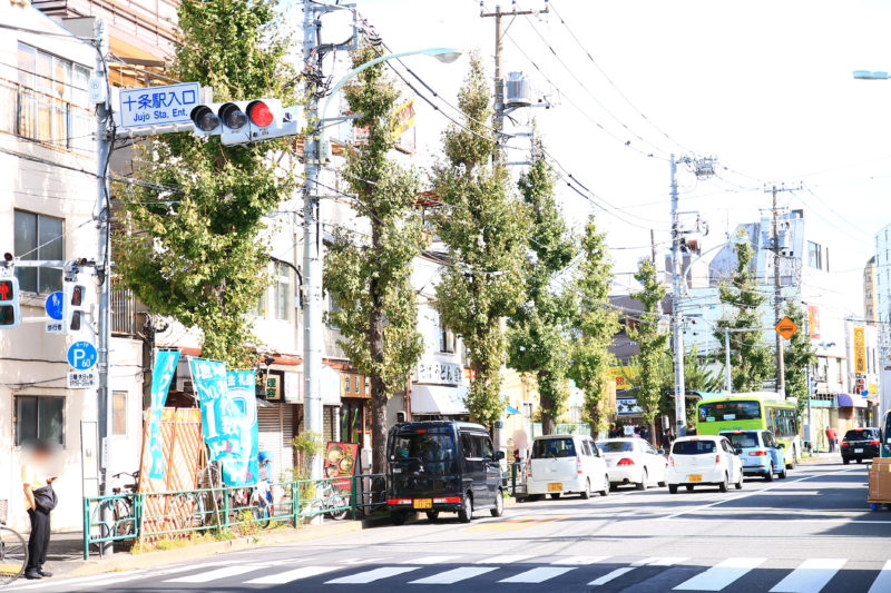 十条駅へ向かう本郷赤羽線