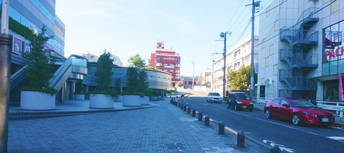 田端ASUKAタワーの坂道