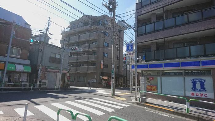 田端浅野屋への道