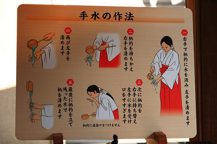 二本榎祭りの手水作法