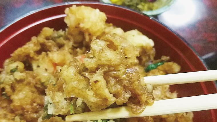 赤羽の天ぷら屋にしおかのえびかき揚げ丼