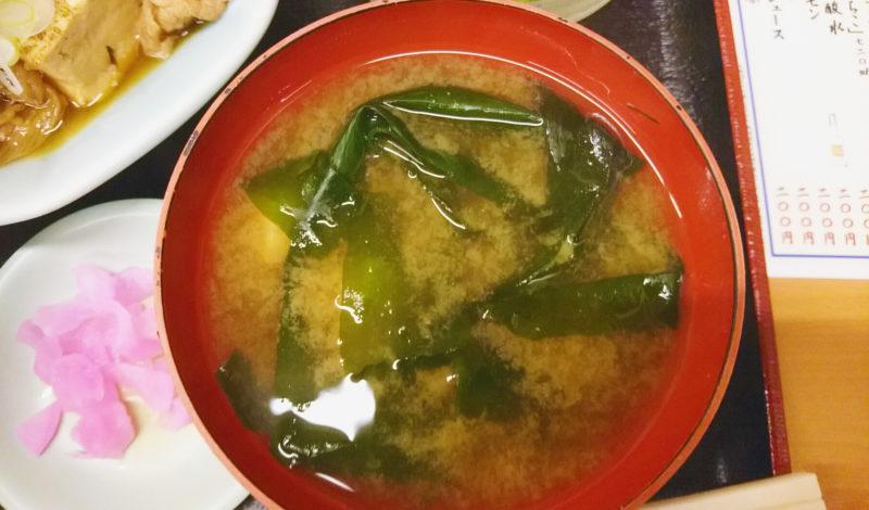 赤羽三忠食堂のお味噌汁