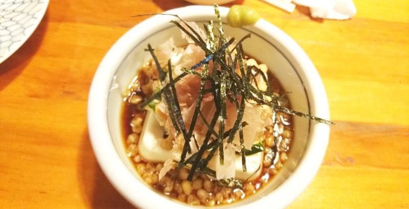 東十条の飛葉のたぬき豆腐