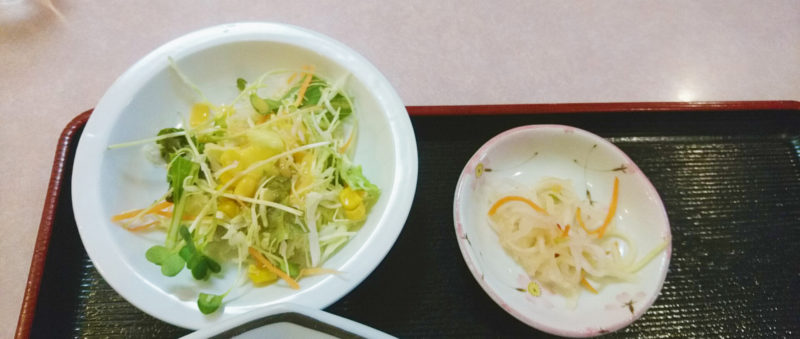 十条大吉飯店のサラダ