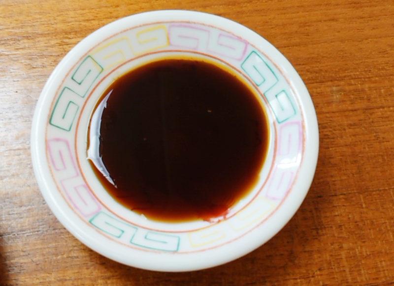 中華吉野の餃子タレ