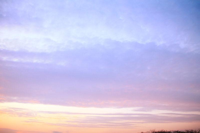 荒川大橋から見た空。