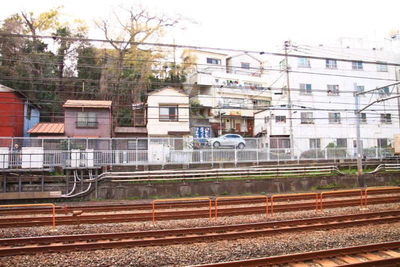東十条駅から見える花ぼっくり看板