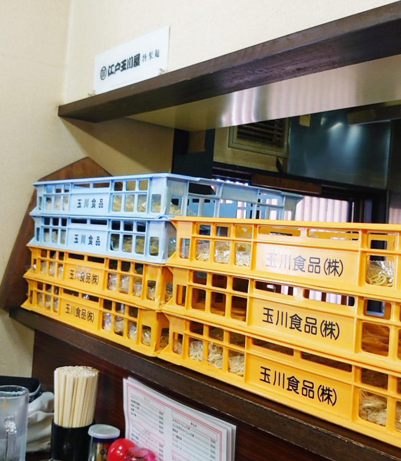 東京とんこつ王子ラーメン 江戸玉川屋の麺