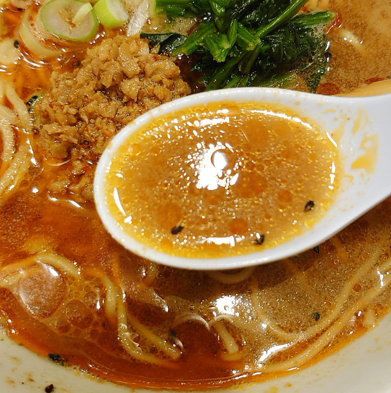舎鈴 担々麺 スープ