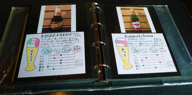 和牛酒場とりこ 世界のビールのメニュー