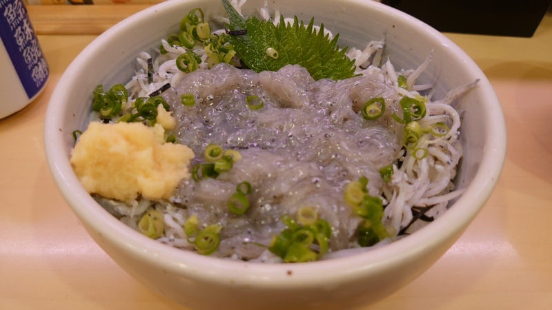 十条 だんしゃく寿司 生しらす丼