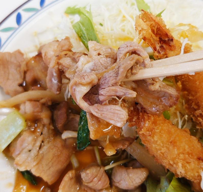キッチンハマダ ポーク焼肉・エビフライ