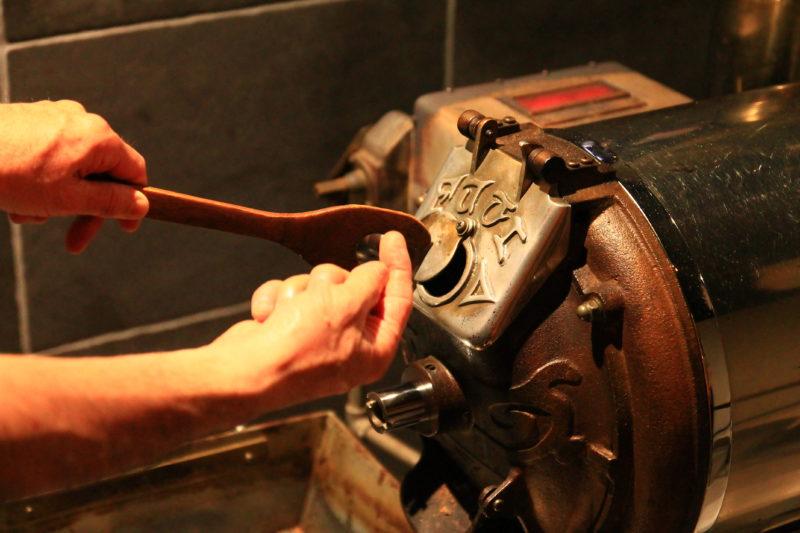 オイカワコーヒー 焙煎機