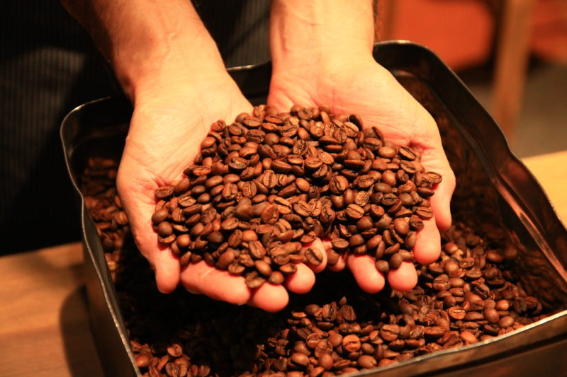 新鮮な珈琲豆