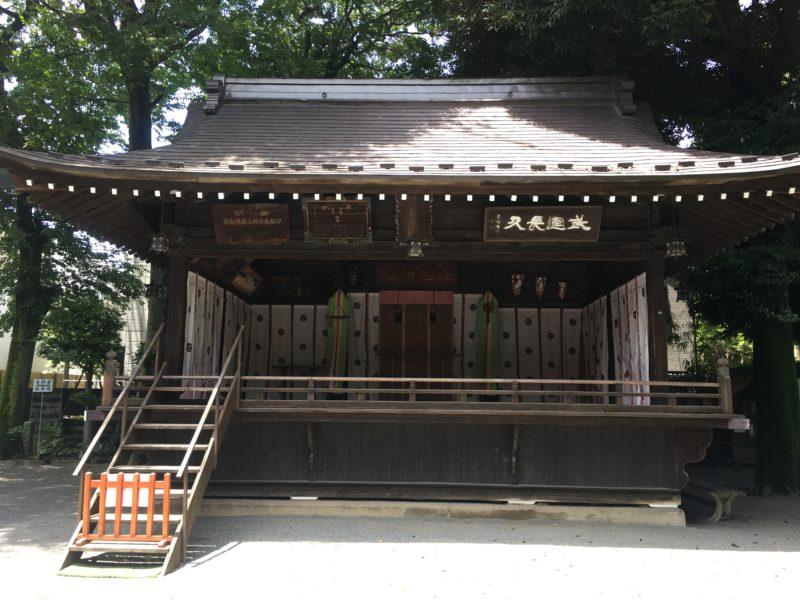七社神社 舞殿