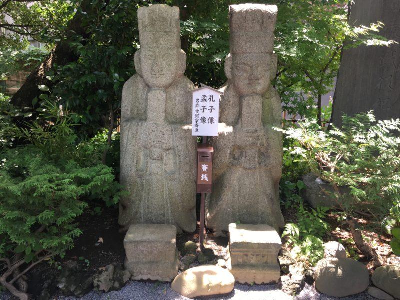 七社神社 孔子像 孟子像