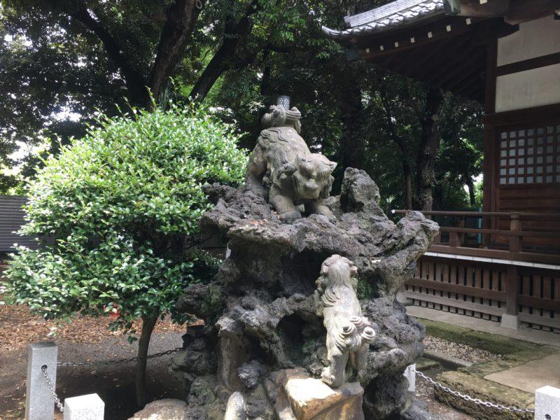 平塚神社 狛犬