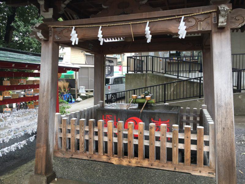 瀧野川八幡神社 手水舎