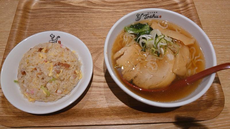 れんげ食堂Toshu 十条銀座店 半ラーメン 半炒飯