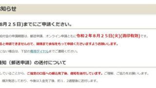 特別定額給付金(一律10万円)