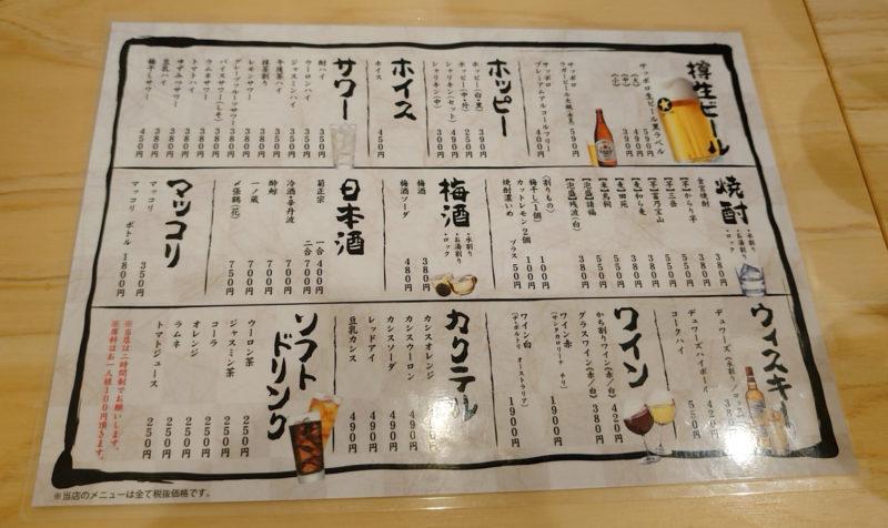 赤羽 文月商店 メニュー