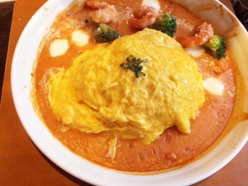 星乃珈琲店 海老とモッツァレラチーズのトマトクリームオムライスドリア