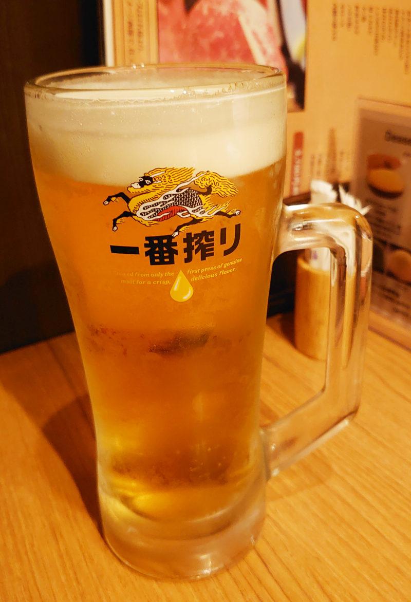 赤羽 炭火焼肉 香味苑 ビール
