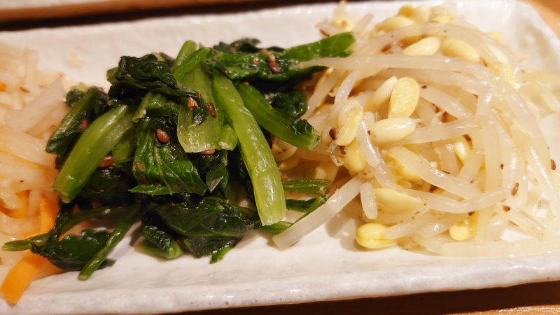赤羽 炭火焼肉 香味苑 キムチ&ナムル盛合わせ