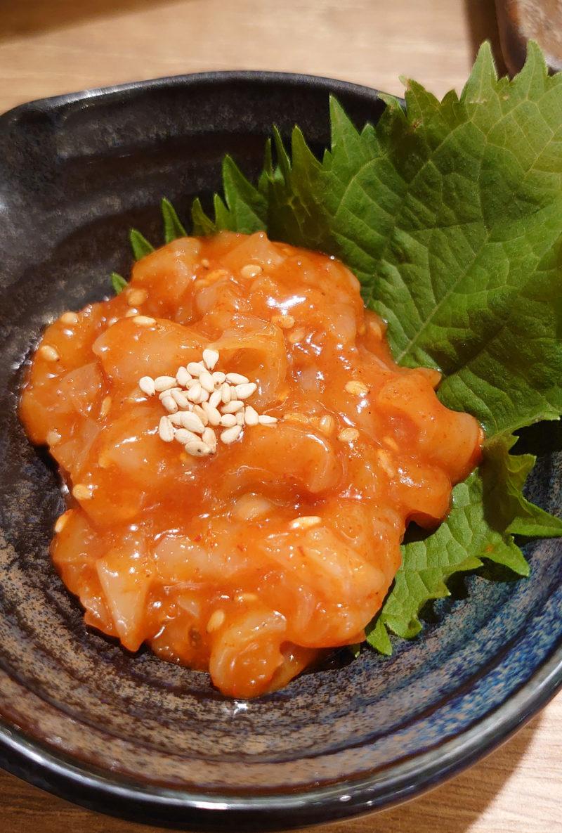 肉汁餃子のダンダダン 赤羽南口店 貝ヒモチャンジャ