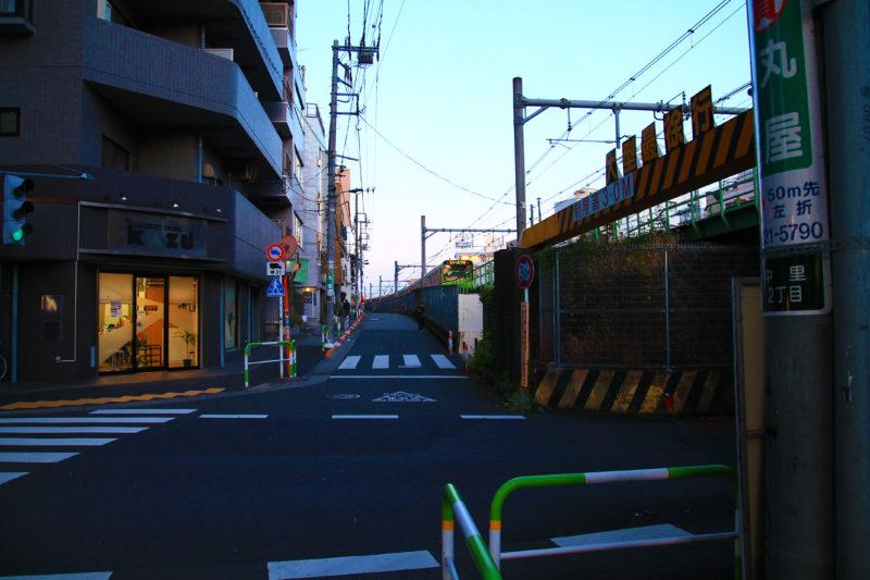 駒込駅付近 山手線 踏切 アクセス