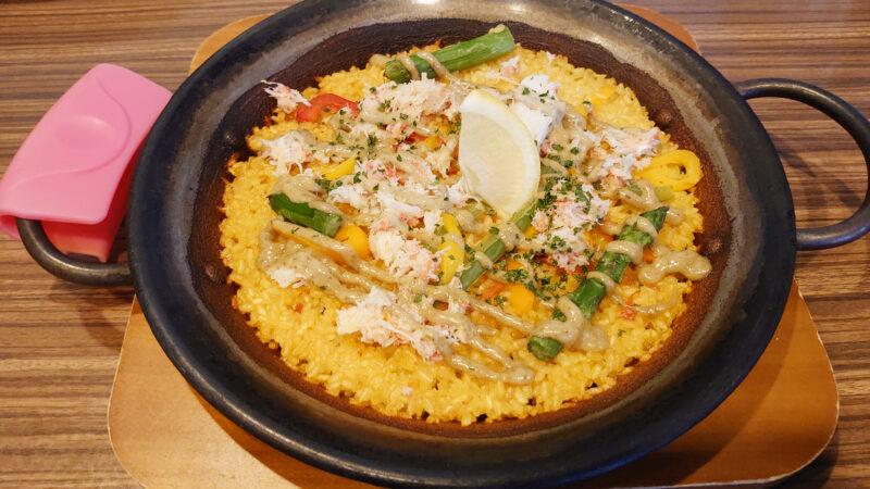 シーフードバル AZUL ズワイガニとカニ味噌のパエリア