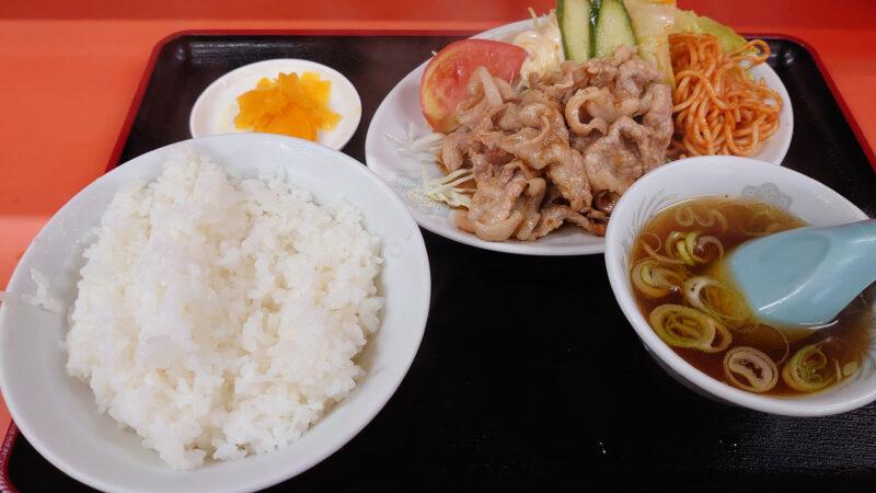 十条 天津 生姜焼き定食