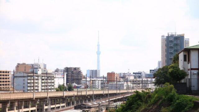 田端駅 スカイツリー